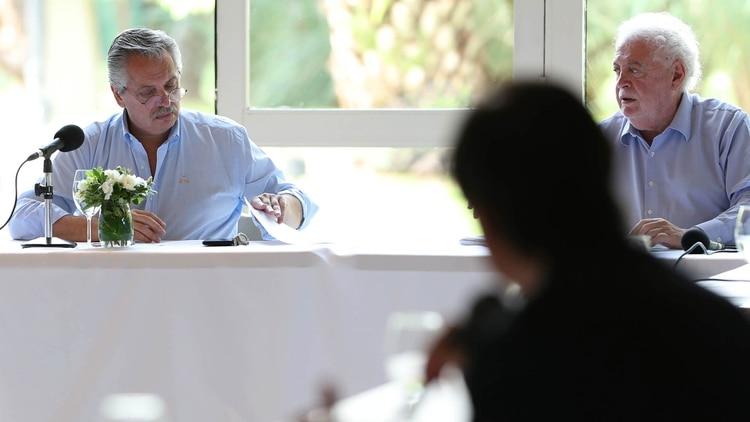 El presidente junto al ministro de Salud de la Nación, Ginés González García