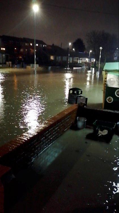 Inundaciones cerca a Wrexham, en Gales (Reuters)