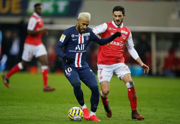 Reims, en un cruce de Copa de Francia ante PSG, en enero pasado (REUTERS/Pascal Rossignol)