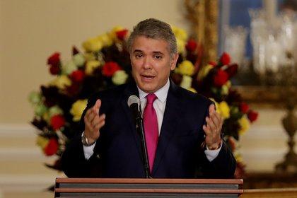 En la imagen, el presidente de Colombia, Iván Duque (EFE)