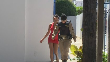 Una de las mujeres que denunció agresión de parte de Juan Cazares (capturas de TV Globo)