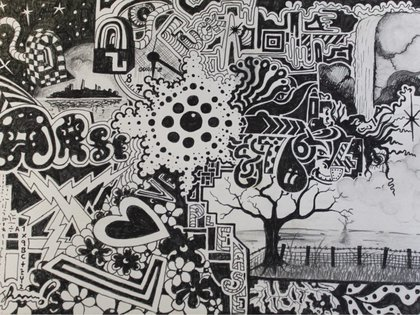 Una de las increíbles obras que Lee Hadwin pinta dormido