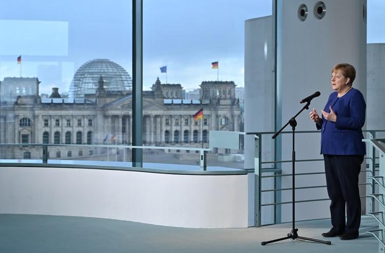 La canciller alemana Angela Merkel (John Macdougall/Pool via REUTERS)