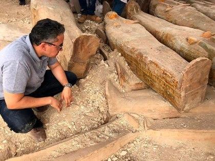 El ministro de Antigüedades del país, Jaled al Anani (AP)