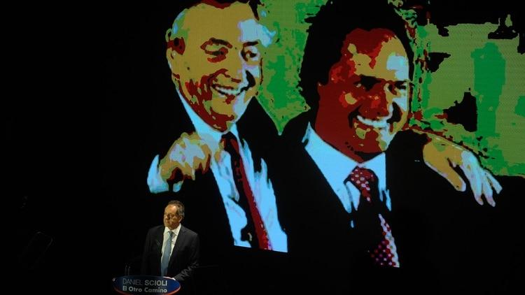 Daniel Scioli durante el lanzamiento de su candidatura presidencial (Patricio Murphy)