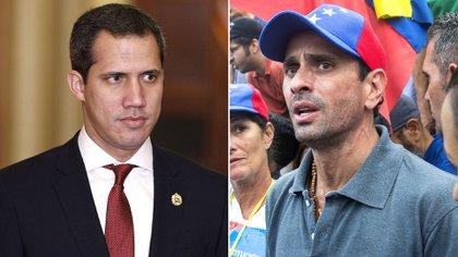 El presidente encargado de Venezuela, Juan Guaidó y el ex candidato presidencial Henrique Capriles
