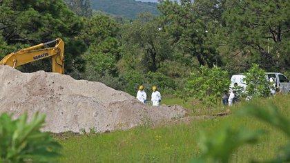 Los trabajo en la fosa de Zapopan se llevan a cabo desde el 3 de septiembre (Foto: Cuartoscuro)