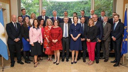 El presidente electo, Alberto Fernández, almorzó la semana pasada con los embajadores de la Unión Europea. (foto NA)