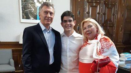 Elisa Carrió en su última visita a Casa Rosada, junto a Mauricio Macri