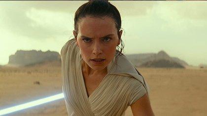 Daisy Ridley como Rey en star Wars