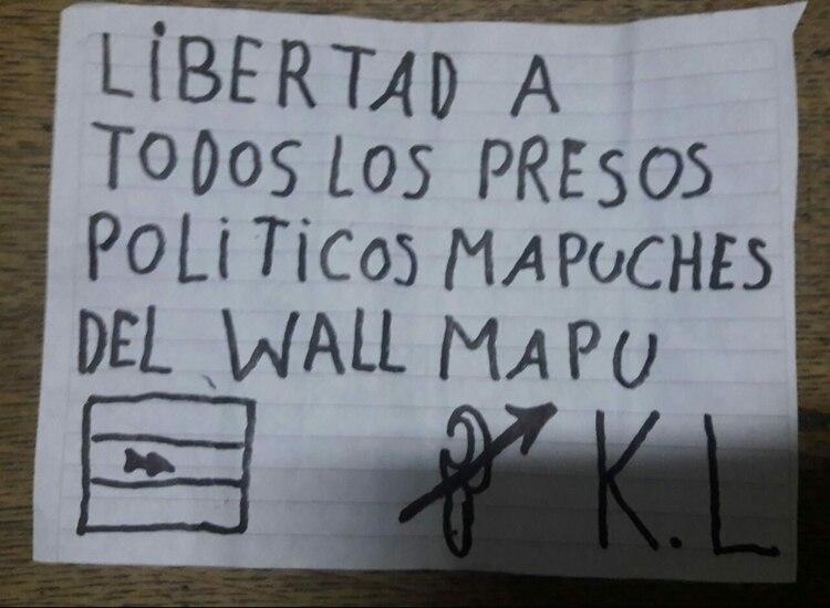 Los agresores pidieron por la libertad de los presos políticos mapuches