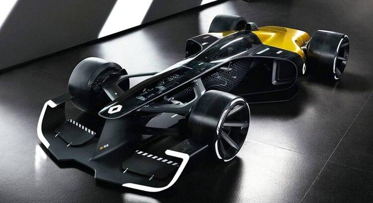 El Renault R.S. 2027 Vision es un concept de 2017 que también imaginó el futuro de la F1.