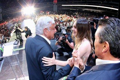 Celebración en el zócalo capitalino del triunfo electoral de Andrés Manuel López Obrador en 2018 (Foto: Saúl López/ Cuartoscuro)