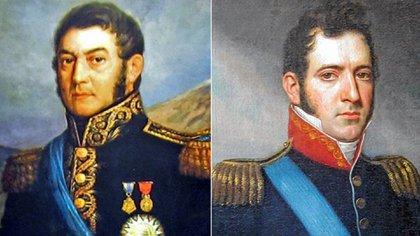 José de San Martín y Carlos María de Alvear