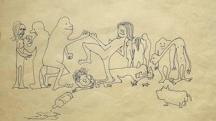 Los dibujos de desnudos eran característicos de Lennon.