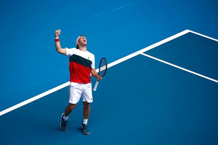 Por primera vez en su carrera, Diego Schwartzman avanzó a los octavos de final del Abierto de Australia. REUTERS/Edgar Su