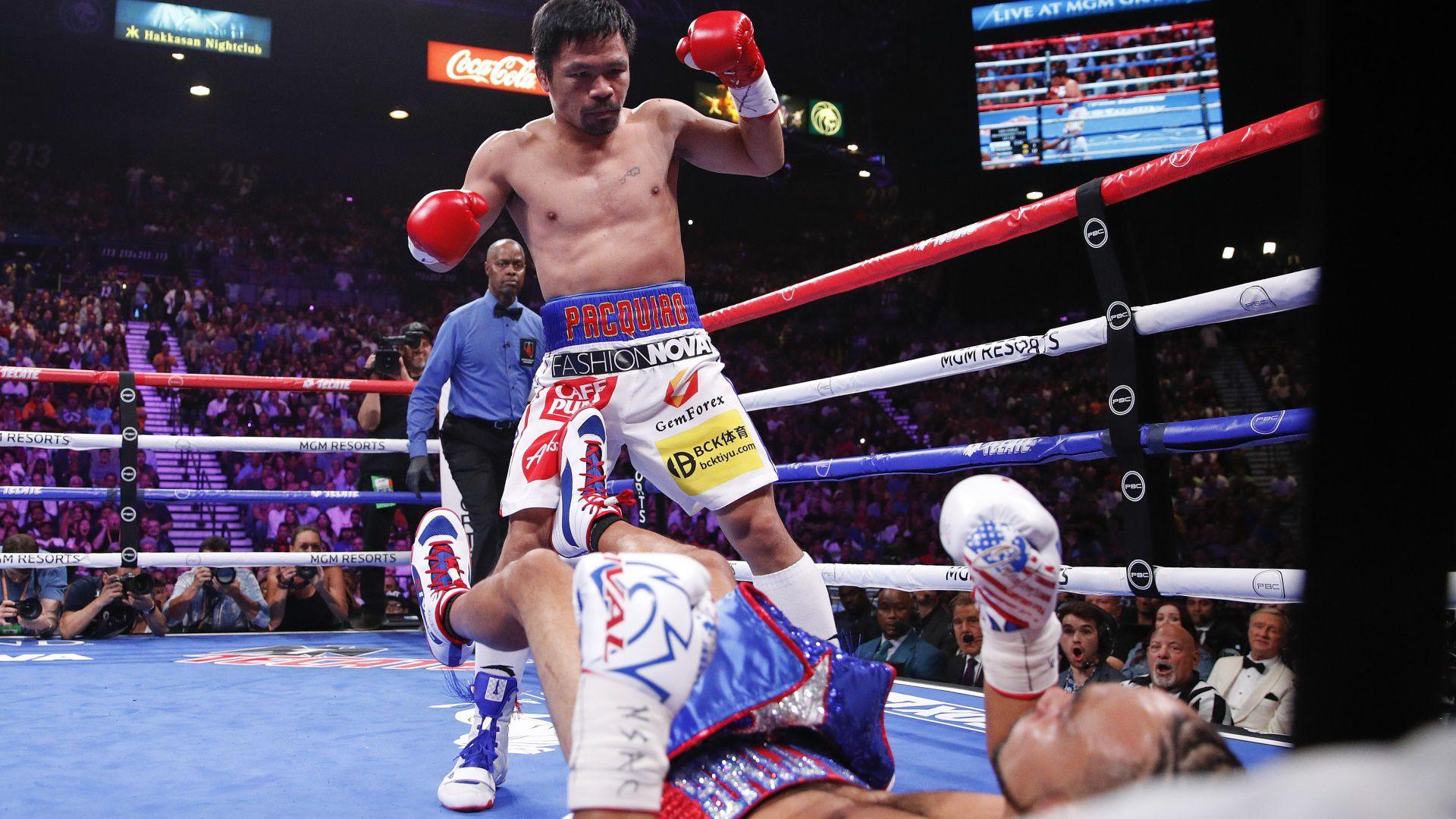 Además, el boxeador filipino es el campeón más veterano de la historia con 40 años y 215 días (Foto: AP)