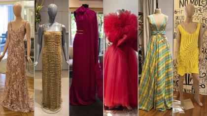 Los vestidos que propusieron los diseñadores para Navidad (Fotos: Franco Fafasuli)