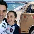 Damian Carballo y Micaela Antiñolo son pareja y fanáticos del