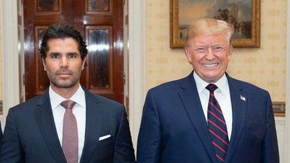 Eduardo Verástegui y Donald Trump (IG: eduardoverastegui)