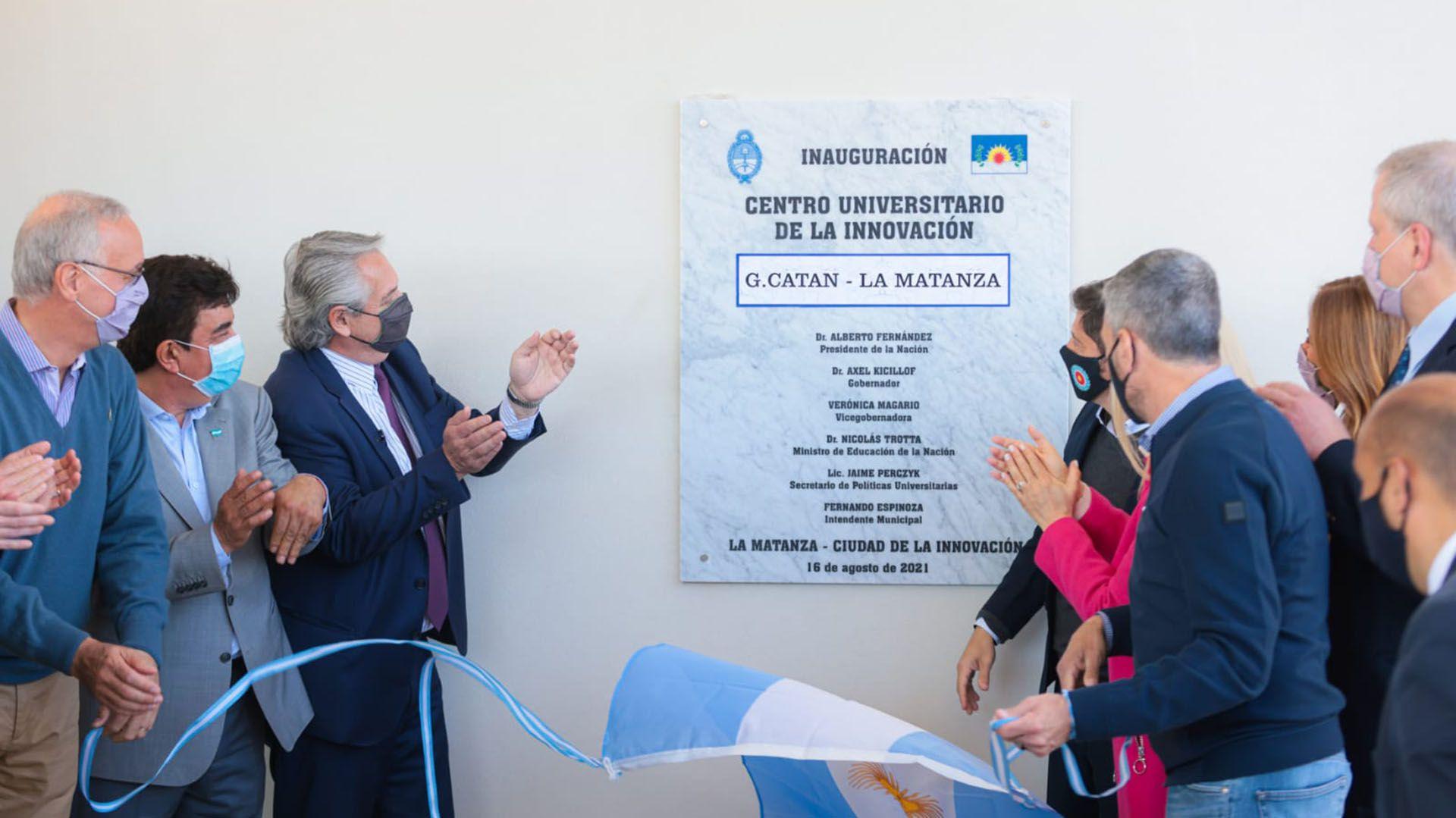 Alberto Fernandez en La Matanza