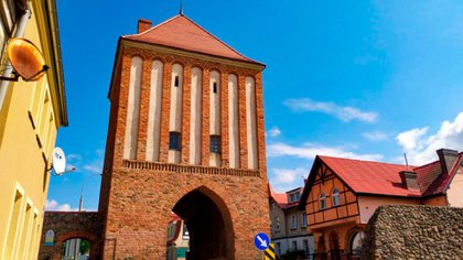 The Nowogrodzka Gate in Mysliborz.  One of the main entrances to the city.