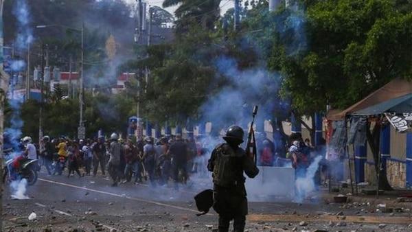 Las fuerzas de seguridad de Ortega reprimieron las protestas en Masaya