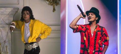 Bruno Mars y Michael Jackson, unidos por una teoría en internet (Foto: Instagram@michaeljackson/@brunomars)