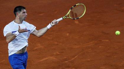 Federico Delbonis se impuso en el Masters de Roma, pero Guido Pella abandonó en su debut