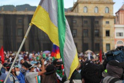 La llegada de la marcha de casi 10.000 indígenas a la capital colombiana ha provocado tensión entre el Gobierno y las autoridades locales. Foto: Infobae/María José Cogollo