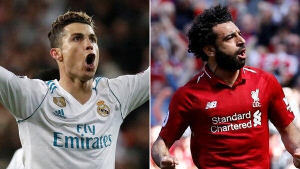Cristiano Ronaldo y Mohamed Salah