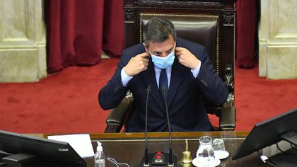 Sergio Massa, presidente de la Cámara de Diputados y autor de la iniciativa que contempla que menos personas paguen el Impuesto a las Ganancias