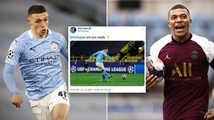 La promesa del Manchester City que tuvo un inesperado problema por un provocador tuit a Kylian Mbappé
