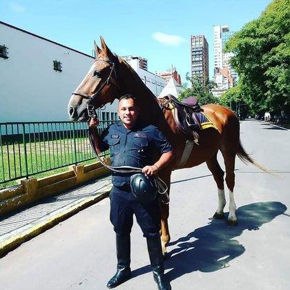 El inspector Juan Pablo Roldán, asesinado ayer en el barrio de Palermo