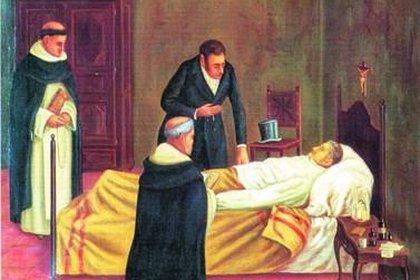 Fallecimiento de Manuel Belgrano, asistido por el médico Joseph Redhead.
