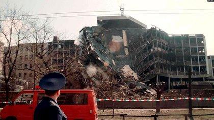 Edificio en Belgrado bombardeado por la OTAN en 199 (EFE)