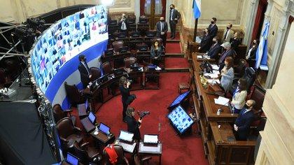 Cristina Fernández de Kirchner preside la sesión del Senado para tratar tres proyectos recinto (NA: JUAN VARGAS)