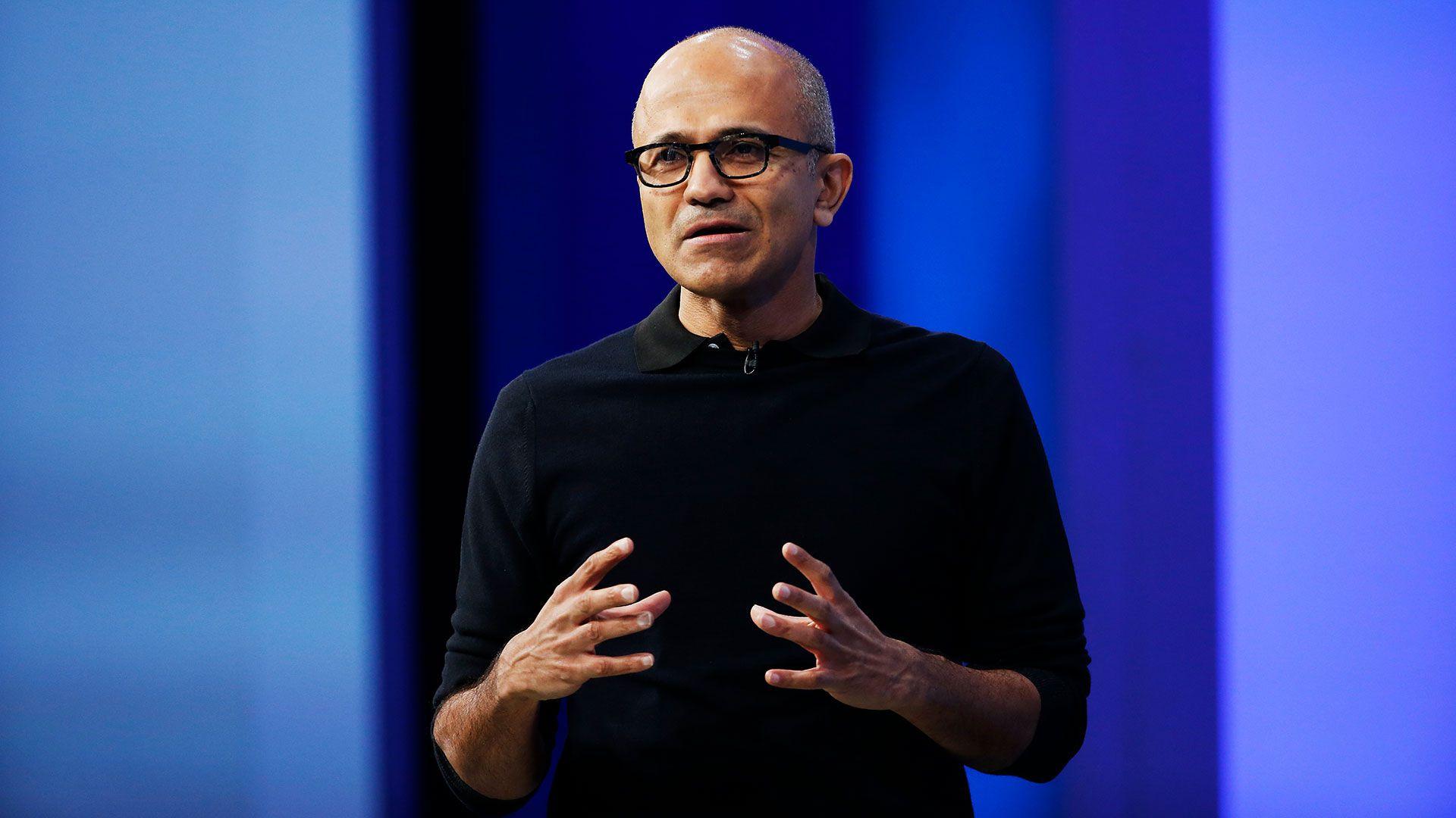 Satya Nadella, CEO de Microsoft (Photo by Stephen Lam/Getty Images)