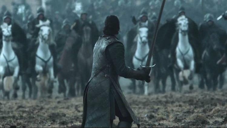 Jon Snow y uno de los momentos másconmovedores de la Batalla de los Bastardos, en Game of Thrones