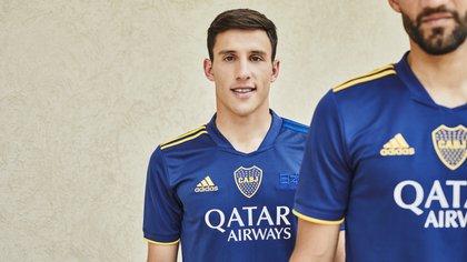 La gran promesa de Boca, Capaldo, muestra detalles de la nueva indumentaria