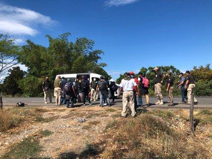 Al parecer, el grupo ingresó a primera hora de este 1 de abril por la frontera sur de México (Foto: Twitter/@INAMI_mx)
