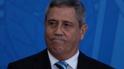 Fotografía de archivo del 18 de febrero de 2020 que muestra al ministro de la Presidencia, el general Walter Braga Netto, durante su ceremonia de juramentación, en Brasilia (Brasil). EFE/Joédson Alves/ARCHIVO