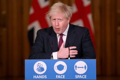 El primer ministro de Gran Bretraña, Boris Johnson (REUTERS/Toby Melville/Pool)