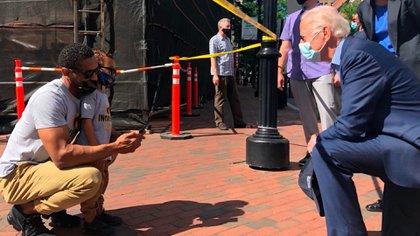 Joe Biden se unió a los manifestantes en Wilmington, Delaware