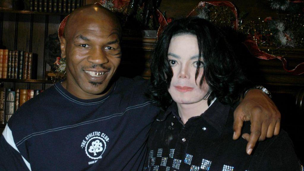 Mike Tyson con Michael Jackson