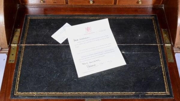 La carta que Diana Spencer le envió a su guardaespaldas con el membrete del Palacio de Kensington