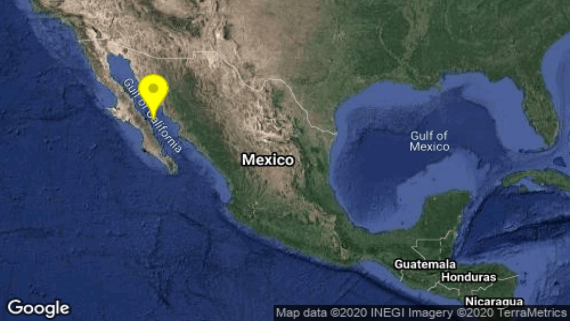Sismo Baja California Sur Foto: @SismologicoMX