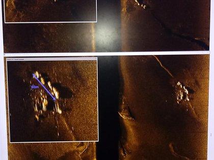 Las primeras imágenes del hallazgo (Armada Argentina)