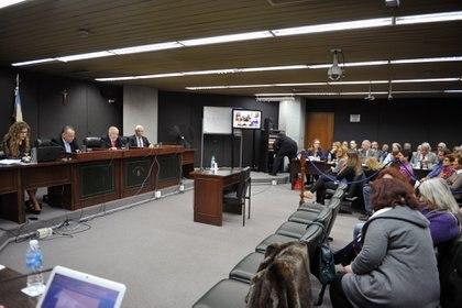 Un juicio oral de lesa humanidad en Mar del Plata (Foto: Alejandro Moritz)