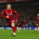 Soccer Football - Premier League - Liverpool v Manchester United - Anfield, Liverpool, Britain - December 16, 2018 Liverpool's Xherdan Shaqiri celebrates scoring their second goal REUTERS/Phil Noble EDITORIAL USE ONLY. No use with unauthorized audio, video, data, fixture lists, club/league logos or